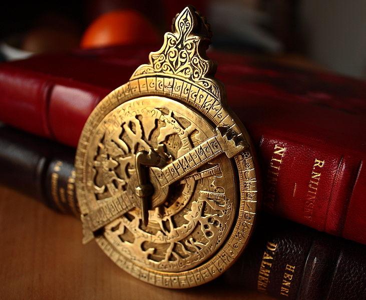 18th Century Astrolabe (image CC BY 2.0 KJG2007 via Wikimedia Commons)